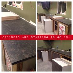 Cabinets are starting to go in! Building A Garage, Cabinets, Instagram, Armoires, Fitted Wardrobes, Lockers, Building A Carport, Armoire, Cabinet