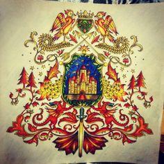 See More Coat Of Arms Castle Enchanted Forest Brasao Castelo Floresta Encantada Johanna Basford