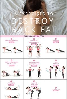 8 Exercises to Get Rid of Lower Back Fat for Women 8 Exercises to Get Rid of Lower Back Fat for Women Dynda Velasco dyndavelasco Back Pain Info 8 Exercises to nbsp hellip transformation 6 month Fitness Workouts, Training Fitness, At Home Workouts, Butt Workouts, Summer Workouts, Abdominal Exercises, Back Exercises, Morning Exercises, Yoga Exercises