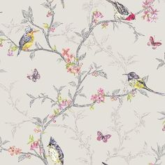 Phoebe wallpaper by Albany in dove grey