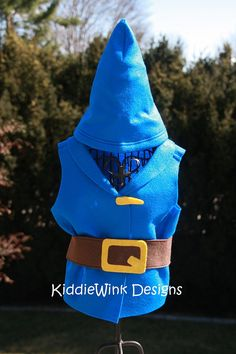 Gnomeo inspired costume Vest belt and gnome by KiddieWinkDesigns. , via Etsy.