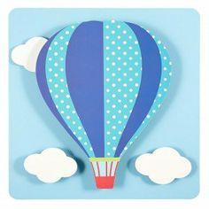 Hot Air Balloon 3D Wall Art