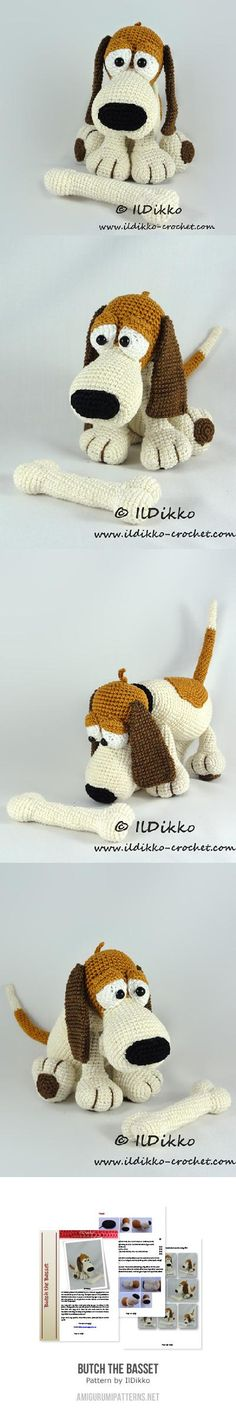 Butch The Basset Amigurumi Pattern