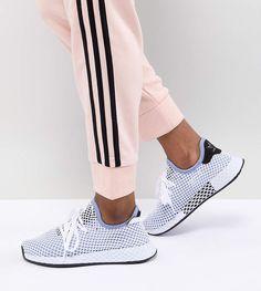 finest selection 29e1b 5bde1 adidas Deerupt Runner Sneakers In Blue Flat Booties, Wedge Flip Flops,  Heeled Mules,