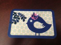 Blue bird card I made for a friend.