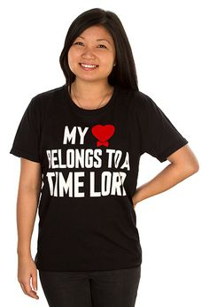 My Heart Belongs to a Time Lord Rolled-Sleeve Ladies' Tee