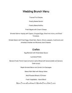 engagement brunch menu wedding brunch menu wedding brunch menu wedding brunch menu