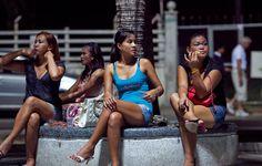 Thailändische Mädchen in Hong Kong