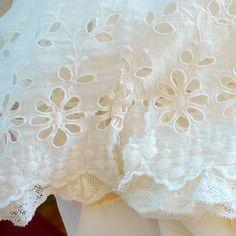 XS Victorian Petticoat White Irish Lace Half Slip Vintage Cotton Antique. $30.00, via Etsy.