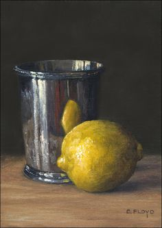 Lemon and Silver Cup - Elizabeth Floyd