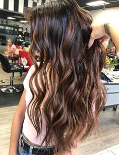 Luscious Balayage With Subtle Purple Tones - 20 Stunning Examples of Mushroom Brown Hair Color - The Trending Hairstyle Brown Hair Balayage, Brown Hair With Highlights, Hair Color Balayage, Brown Hair Colors, Ombre Hair, Brunette Hair, Baylage Brunette, Dark Hair, Hair Looks
