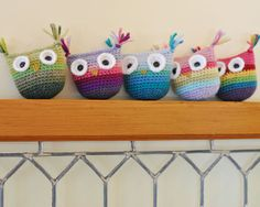 Ombre Crochet Owl  Choose Your Colors  Pick Baby by SnowFallStudio, $18.50