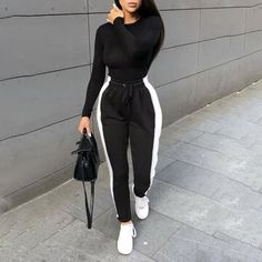 Winter Fashion Outfits, Swag Outfits, Mode Outfits, Cute Casual Outfits, Stylish Outfits, Stylish Clothes, Clothes Swag, White Outfits, Trendy Black Outfits