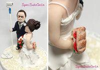 particular of a custom wedding cake topper - SposiSullaTorta personalizzati!