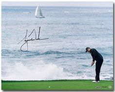 "TIGER WOODS Hand Signed ""Crashing Waves"" 16 x 20 Photograph UDA - Game Day Legends"