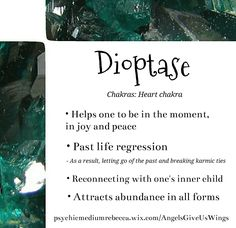 Dioptase crystal meaning