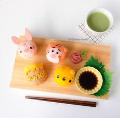 4. Winnie the Pooh Sushi - Little Miss Bento's 5 Best Sushi Recipes #Sushi #Washoku #food #Japan #AllAboutJapan