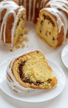 A moist and fluffy bundt coffee cake with a ribbon of cinnamon streusel. This easy recipe uses yellow cake mix and pudding mix but tastes 100% homemade!