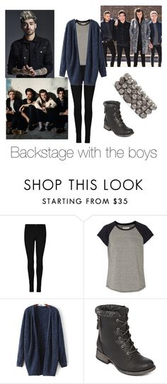 """Backstage"" by niallslaughiscute ❤ liked on Polyvore featuring beauty, Current/Elliott, POP and Chico's"