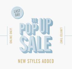 Pop Up Sale