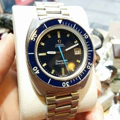 Omega dive watches? Love this omega seamaster 1970 all original with deep blue dial. Model 166.088 caliber 1002. Amazing condition as you can see.  #diverswatches #divewatch #diveomega ##Vintage...