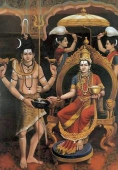 Shiv and Annapurna Shiva Parvati Images, Shiva Hindu, Hindu Rituals, Durga Images, Lakshmi Images, Shiva Shakti, Hindu Deities, Krishna, Hindu Art