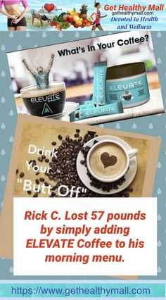 Elevate Brew is dark-roasted, Colombia instant coffee infused with natural supplements focusing on weight loss and cognitive functions. www.gethealthymall.com