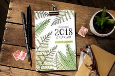 2018 illustrated calendar by Sloe Gin Fizz
