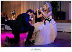 Marcus and Jennifer's WeddingWinston-Salem, NC#nc #charlotte #wedding #photographer #millenium #center #pink #verawang #vera #wang #gown #garter #dive