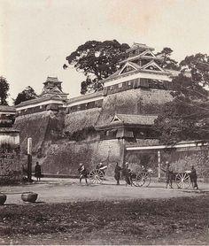 明治初期(1874年)の熊本城、富重利平の撮影による