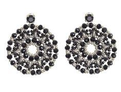 Silver & Black Lace Earrings by Dutchini on Etsy