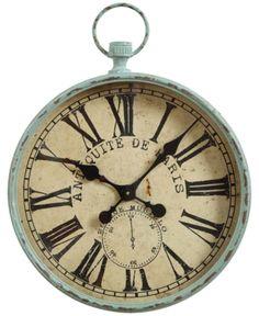 9da25b6a35 Iron Pocket Watch Wall Clock - Blue Cartier