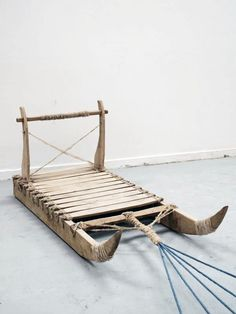 'Qamutiq' Traditional Inuit Sled, I made with my bro :) Operation Arctic, Ice Fishing Sled, Boy Scouts Merit Badges, Arctic Landscape, Inuit People, Inuit Art, Got Wood, Old Tools, Outdoor Survival