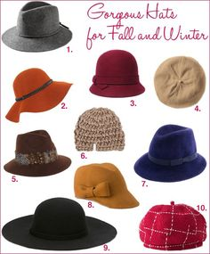 10 Gorgeous Hats For Fall and Winter Fall Hats 357bcee5b67a
