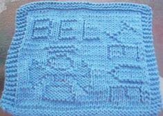 DigKnitty Designs: Believe Knit Dishcloth Pattern