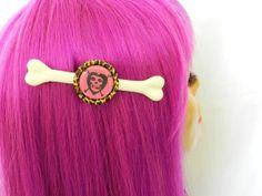 Misfits Fiend Skull Bone Hair Clip Bones by AbbiesAnchor on Etsy, $6.50
