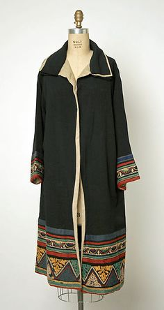 Coat Designer: Jenny  (French) Date: ca. 1926 Culture: French