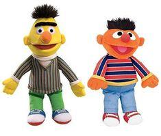 Sesame Street Set of Ernie and Bert Plush Gund Bert And Ernie Costume, Bert & Ernie, Bert Sesame Street, Sesame Street Toys, Kawaii Plush, Kids Tv, Plush Animals, Movie Characters, Toddler Toys