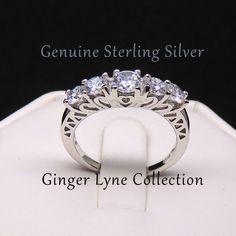 Scarlett, Beautiful 925 Sterling Silver Anniversary Engagement Wedding Ring
