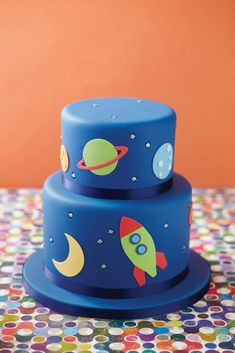 Rocket Cakes – Birthday Cakes for Boys: Nice Design Space Rocket Cake ~ Cake Inspiration Fancy Cakes, Cute Cakes, Fondant Cakes, Cupcake Cakes, Cake Designs For Boy, Rocket Cake, Rodjendanske Torte, Novelty Cakes, Creative Cakes