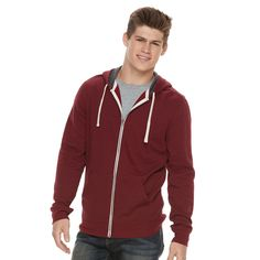 Men's Urban Pipeline® Full-Zip Hoodie, Size: Medium, Med Red