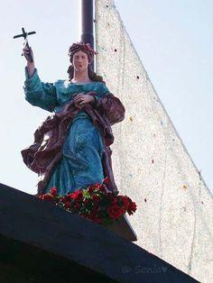 "Salvation.  Palermo, Sicily.  Italy.  Detail of the ""Carro di Santa Rosalia"", the patron saint of the city"