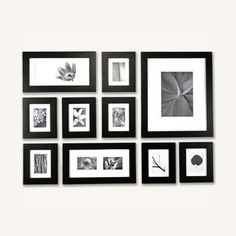 """A great housewarming idea! Picturewall Frame Kit 2"""" Black, $298, now featured on Fab."""