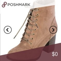 """11/2 HP🎉 🆕 mocha lace up booties • approx 3"""" • they run big (i am typically an 8 and the 7.5 fit better) i do not trade • better price through my website ((link in the bio)) Shoes Ankle Boots & Booties"""