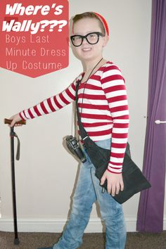 World Book Day - Wheres Wally Boys Last Minute Fancy Dress Costume