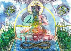 Mandala Art Meditation Chakras Art par sustainablygrateful sur Etsy