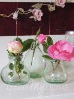 Curved Glass Wild Bouquet Vase Set 3
