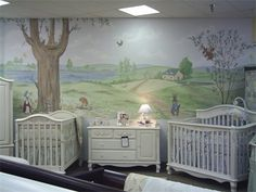 Maybe Someday Saving Them Up For Later Peter Rabbit Mural In The Nursery Also Other Beautiful Wall Paintings