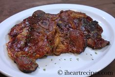 Oven Baked Barbecue Pork Chops Easy Recipe I Heart Recipes Bakery Recipes video recipe Easy Pork Chop Recipes, Healthy Grilling Recipes, Grilled Steak Recipes, Pork Recipes, Seafood Recipes, Cooking Recipes, Oven Recipes, Cooking Ideas, Cooking Time