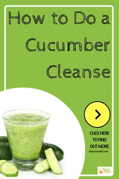 Cucumber Cleanse - The Juice Chief